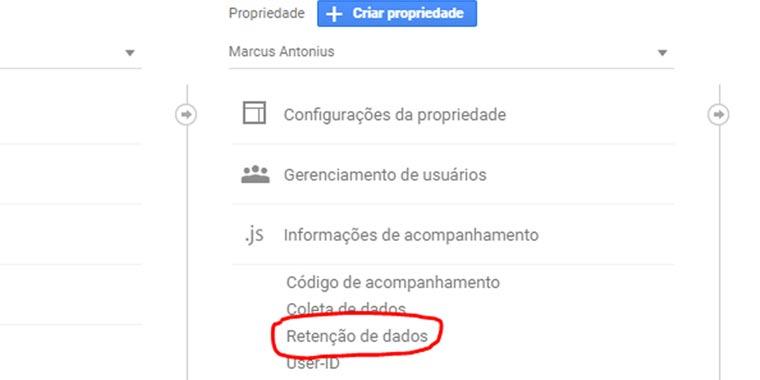 nova política de dados do Google Analytics - passo 02