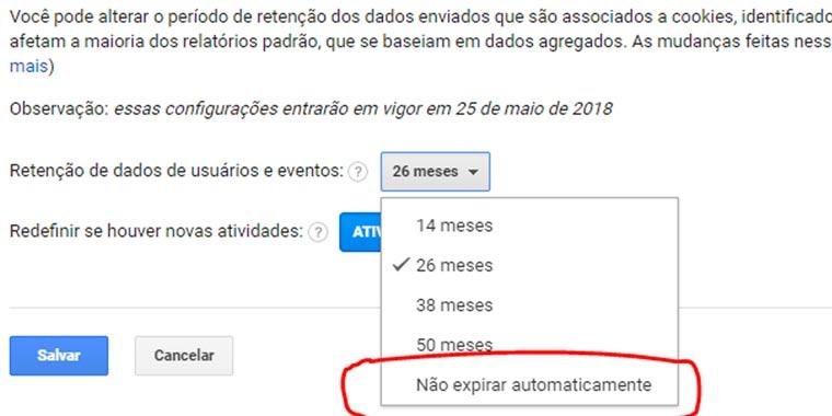 nova política de dados do Google Analytics - passo 03